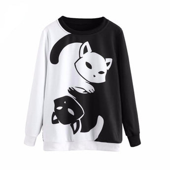 Black & White Cats Women's Sweater