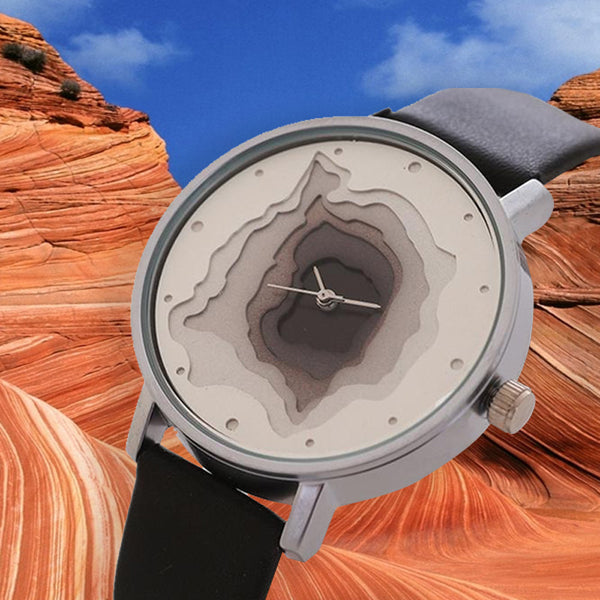 Geo Layers Unisex Quartz Watch