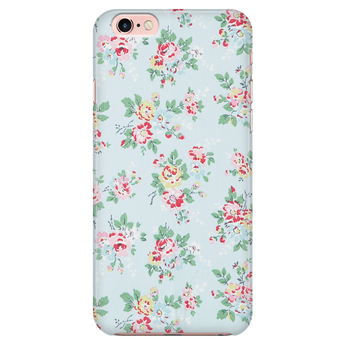 Baby Blue Vintage Floral Samsung Galaxy & iPhone Case