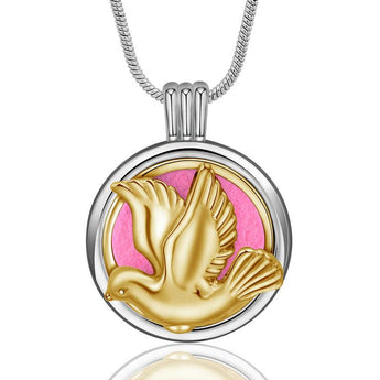 Illume™ Dove of Peace Essential Oil Diffuser Locket with 6 Easy-Switch Oil Pads