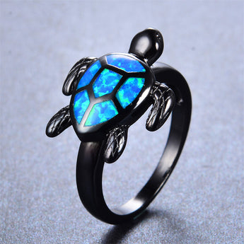 Aquastone™ - Fire Opal Turtle Tribal Ring
