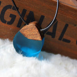 "Drift™ ""Droplet"" Wood Resin Necklace"
