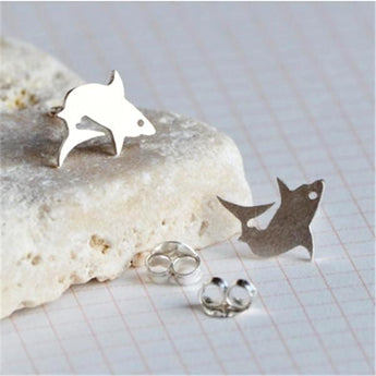 Minimalist Shark Stud Earrings