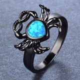 Aquastone™ - Blue Fire Opal Crab Ring