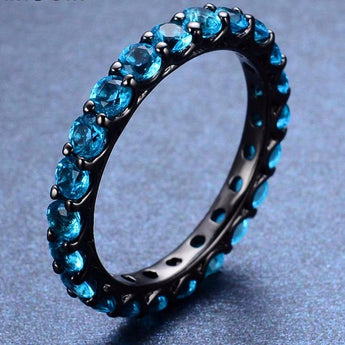 Aquastone™ - Aquamarine Eternity Ring