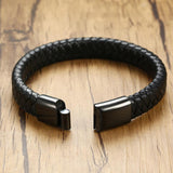 Náutico™ Buckle Stainless Steel and Leather Bracelet