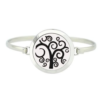 Tree of Dreams Essential Oil Diffuser Bangle with 5 Easy-Switch Oil Pads