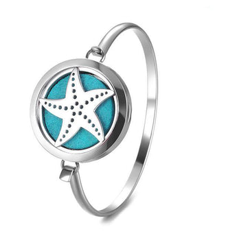 Starfish Essential Oil Diffuser Bangle with 5 Easy-Switch Oil Pads