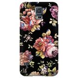 Flowers in Black Vintage Floral Samsung Galaxy & iPhone Case
