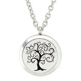 Tree of Creativity Essential Oil Diffuser Locket Necklace with 5 Easy-Switch Oil Pads