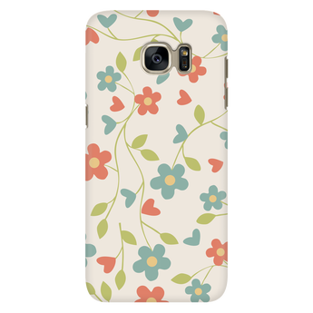 Playful Pastel Vintage Floral Samsung Galaxy & iPhone Case