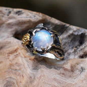 Celticá™ - Bohemian Moonstone Rose Ring