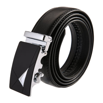 Angles Leather Stainless Steel Belt