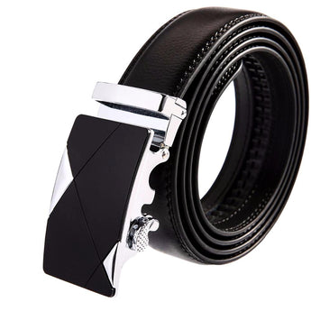 Corners Leather Stainless Steel Belt