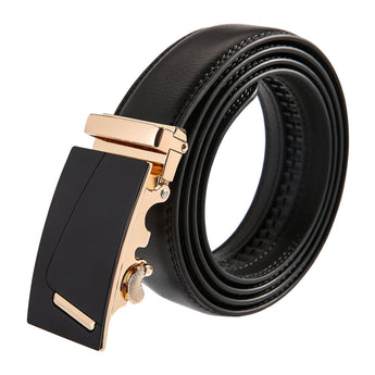 Sides Leather Stainless Steel Belt
