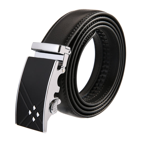 Crossing Leather Stainless Steel Belt