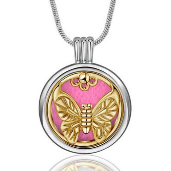 Illume™ Moth Essential Oil Diffuser Locket with 6 Easy-Switch Oil Pads