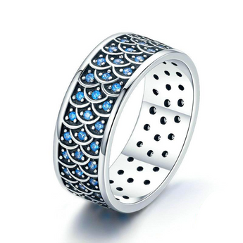 Azuli™ - Mermaid Glitter Sterling Silver Ring