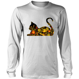 "Floral Cats ""Waiting"" Tops"