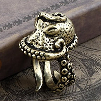 Fino™  - Vintage Octopus Adjustable Sterling Silver Ring