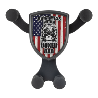 "Artemis™ - ""Don't Mess with a Boxer Dad"" Car Wireless Phone Charger and Holder"