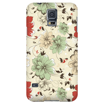 Soft Creams Vintage Floral Samsung Galaxy & iPhone Case
