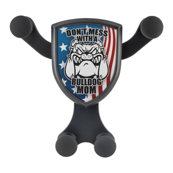 "Artemis™ - ""Don't Mess with a Bulldog Mom"" Car Wireless Phone Charger and Holder"