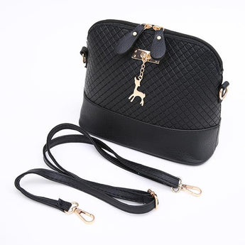 Elegante Classic Shoulder Bag with Fawn Charm