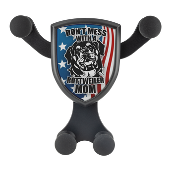"Artemis™ - ""Don't Mess with a Rottweiler Mom"" Car Wireless Phone Charger and Holder"