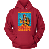 You Don't Mess With A Firefighter Grandpa Vintage Style
