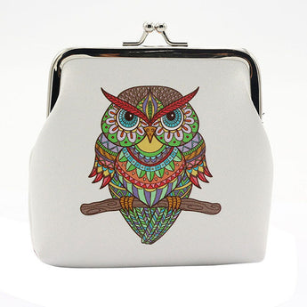 Vintage Tribal Coloured Owl Coin Purse