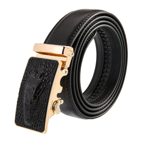 The Hunter Leather Stainless Steel Belt