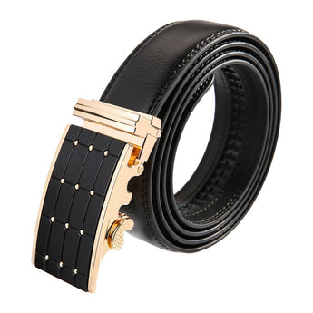 Matrix Leather Stainless Steel Belt