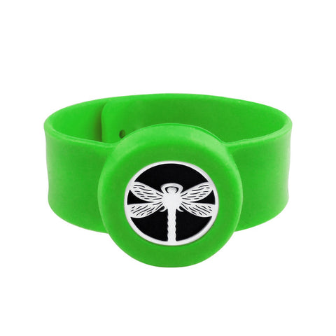 SunnySentials™ Playful Dragonfly Essential Oil Diffuser Snap Strap Bracelet