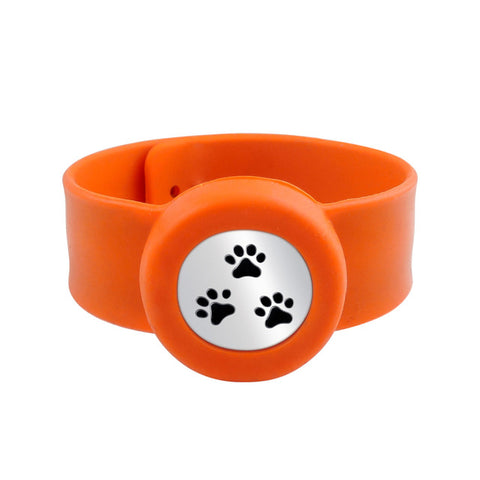 SunnySentials™ Puppy Paws Essential Oil Diffuser Snap Strap Bracelet