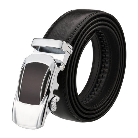 Racer Leather Stainless Steel Belt
