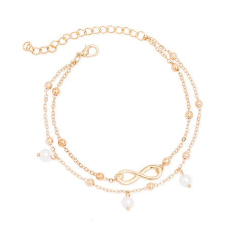 Barefoot Boho™ _ Chic  Simply Infinite  Two-Layered Anklet