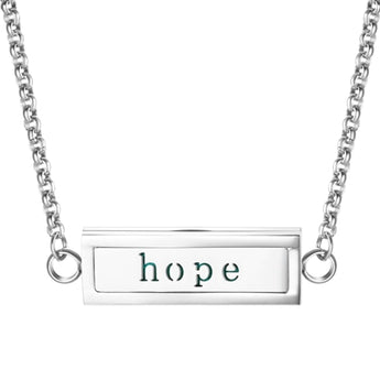 """Hope"" Essential Oil Diffuser Mantra Locket Necklace With 5 Easy-Switch Oil Pads"