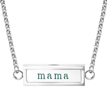 """Mama"" Essential Oil Diffuser Mantra Locket Necklace With 5 Easy-Switch Oil Pads"