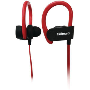 Billboard Portable & Personal Electronics Default Title Billboard BB897 Bluetooth Earhook Headset with Microphone (Black-Red)
