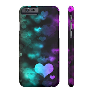 Case Mate for apple iphone case iPhone 6/6S Slim Case Mate Ultra Slim Colorful Hearts Case For Apple iPhone 6 7 8 Plus iPhone X 10