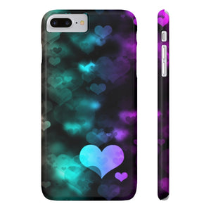 Case Mate for apple iphone case iPhone 7 Plus, iPhone 8 Plus Slim Case Mate Ultra Slim Colorful Hearts Case For Apple iPhone 6 7 8 Plus iPhone X 10