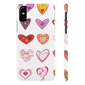 Case Mate iPhone Case for Apple iPHone X iPhone X Slim Case Mate Ultra Slim Hard Shell Valentines Hearts Case for Apple iPhone 6 7 8 Plus iPhone X 10