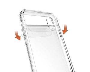 Fab-Case  Air Hybrid Clear Back Hard shell impact resistant corners for Apple iPhone X