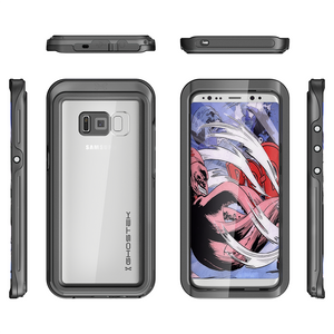 Fab-Case  BLACK Ghostek Atomic 3 Shockproof Waterproof Case for Samsung Galaxy S8