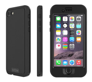 Fab-Case Blackest Black Dog & Bone Wetsuit Topless Rugged Case for Apple iPhone 7/8 Cover