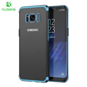 Fab-Case  blue / S8 FLOVEME Fashion Case For Samsung Galaxy S8/S8 Plus Case Light Luxury 3D Plating Mobile Phone Case Cover