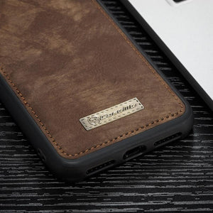 Fab-Case  CaseMe Genuine Leather Zipper Multi Function Wallet Case for iPhone 8