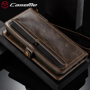 Fab-Case  CaseMe Leather Luxury 2-in-1 Magnetic Closure Wallet Case for iPhone 8 & iPhone 8 plus