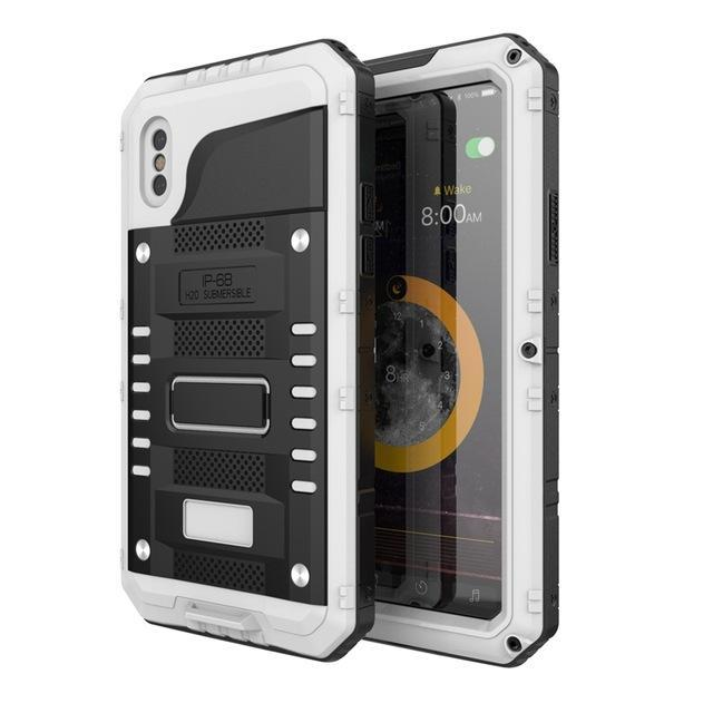 Fab-Case  Cell Phones & Accessories Metal Armor Outdoor Drop-proof Waterproof Case For Apple iPhone X